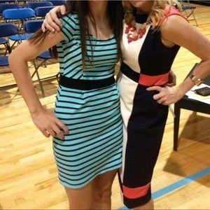 Striped tight dress